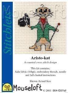 Mouseloft Aristo-Kat Stitchlets cross stitch kit